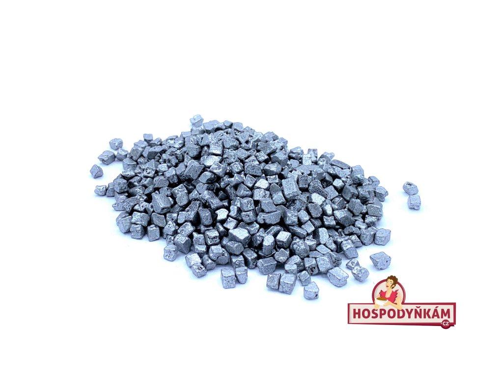 Čokoládové nugety stříbrné