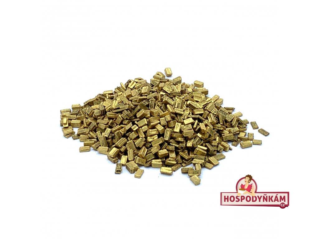 Čokoládové plátky zlaté 50g
