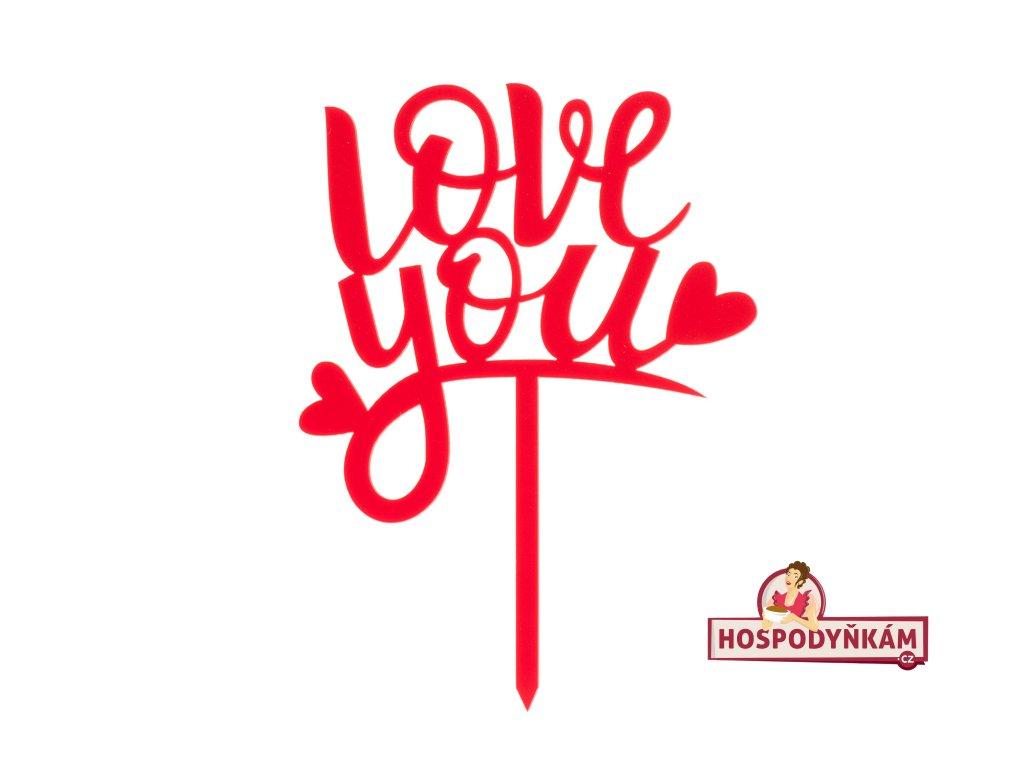 Zapichovací dekorace Love You
