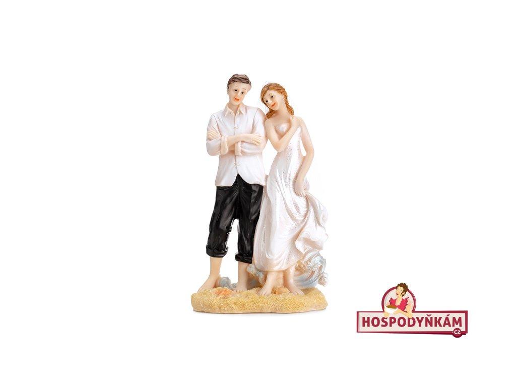 Figurka na dort nevěsta a ženich na pláži