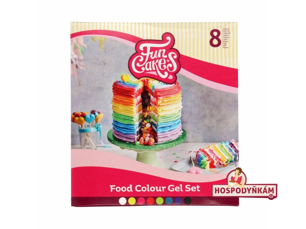 Sada 8 gelových barev FunCakes