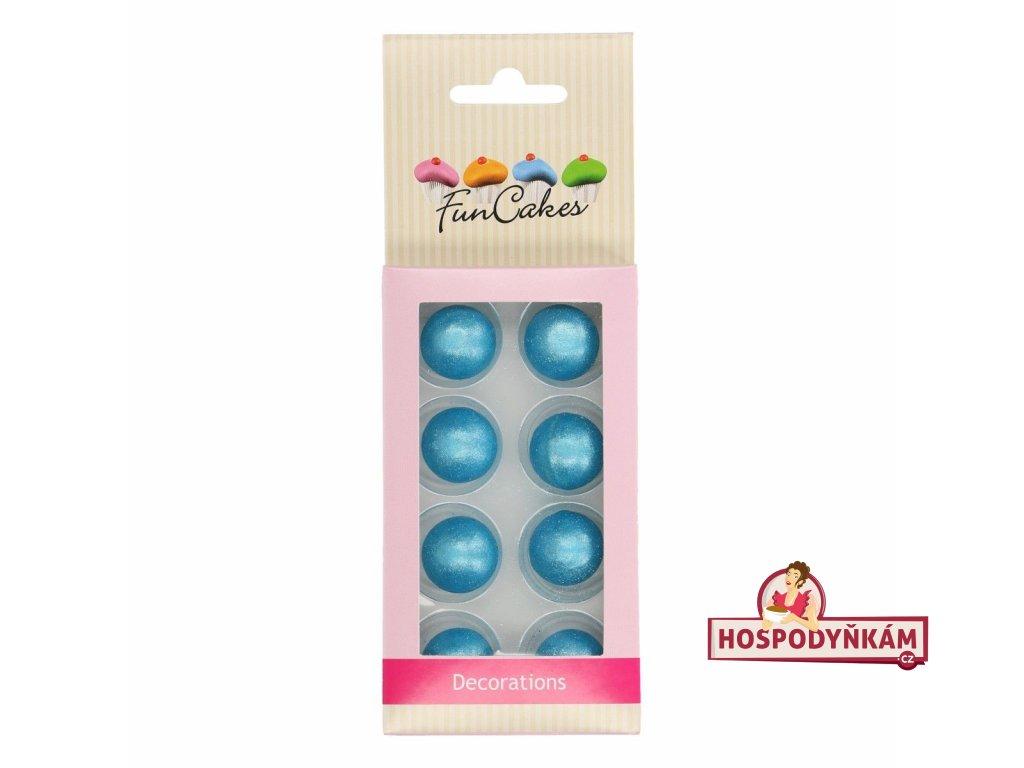 FunCakes Čokoládová koule modrá 8ks