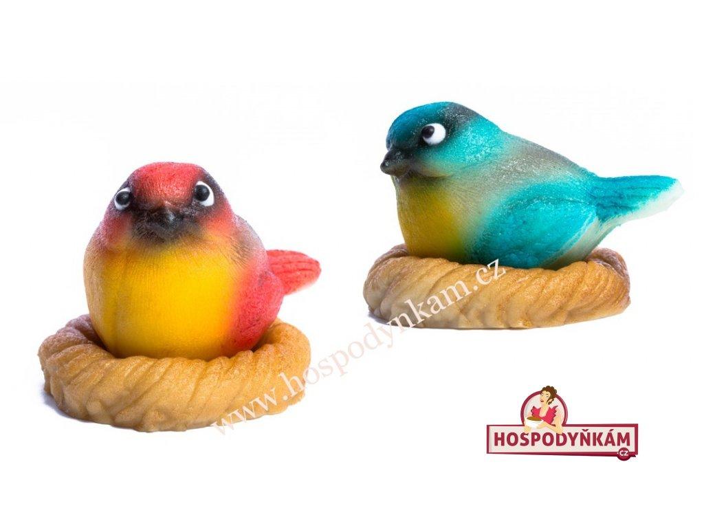 Marcipánová figurka Ptáček v hnízdě