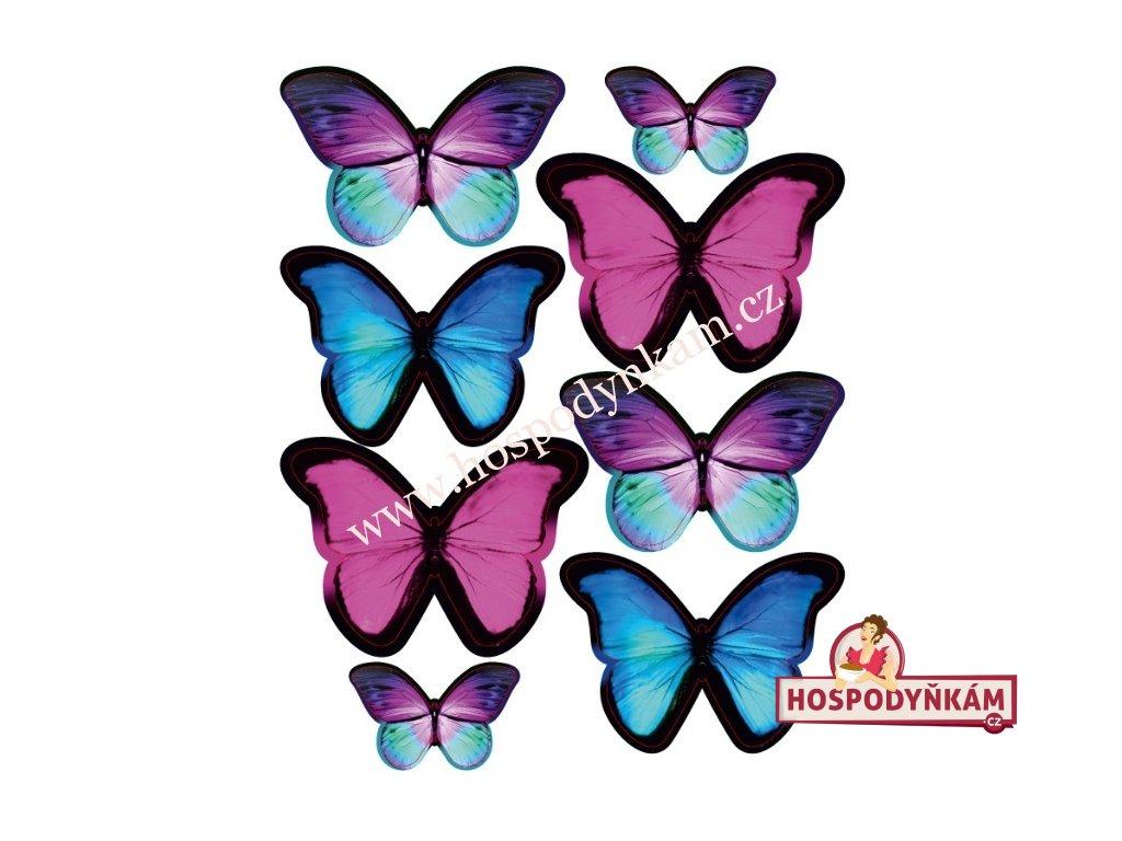 Jedlý papír Amazonští motýli