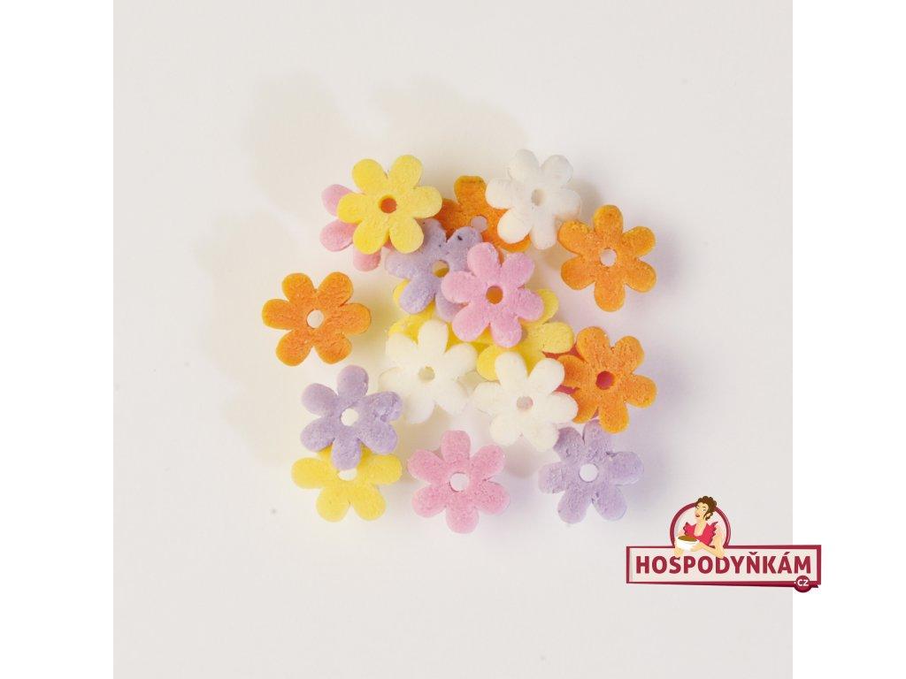 Cukrové zdobení - barevné kvítky 30g