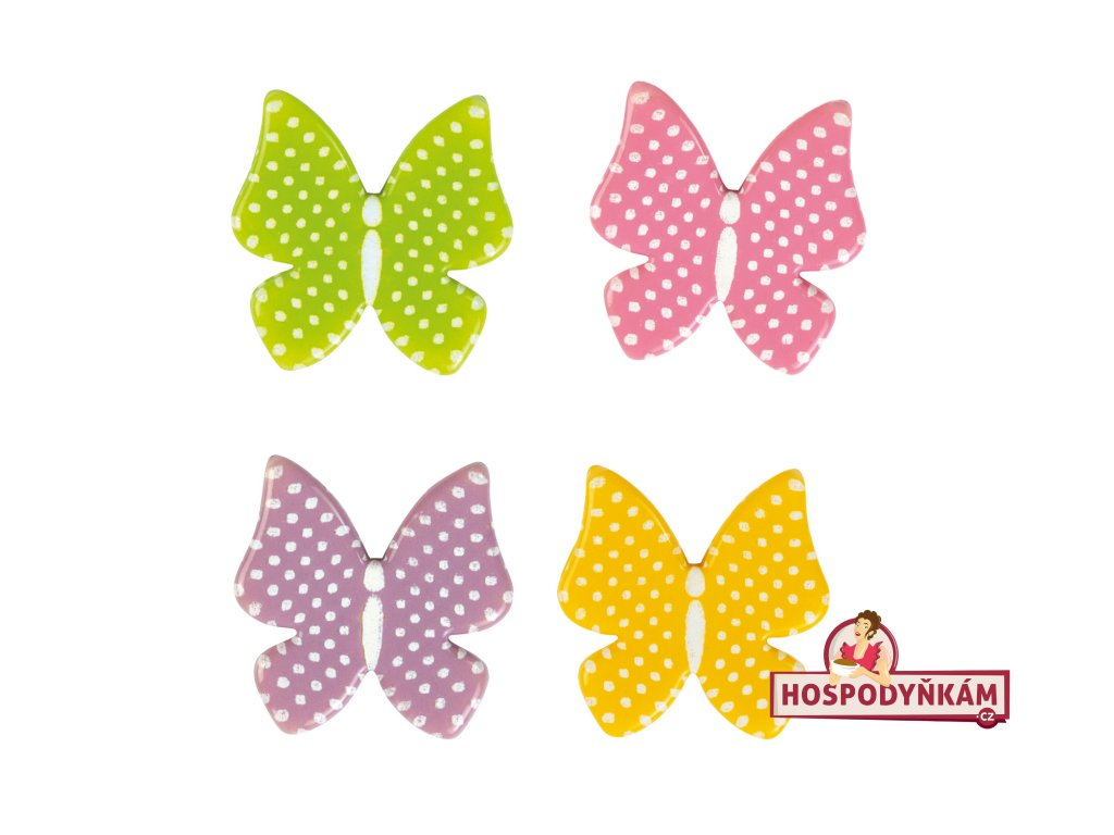 Čokoládová dekorace Motýli 8ks