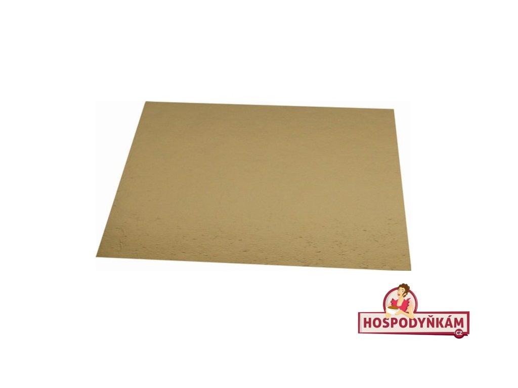 Tác na dort kartonový zlatý 38x38cm