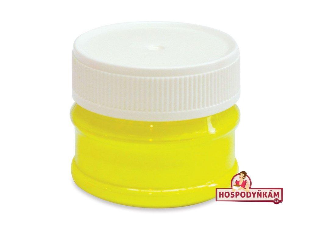 Prachová barva neonová žlutá