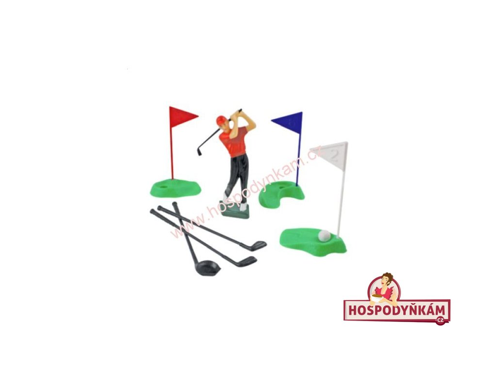 Figurka na dort - golfista