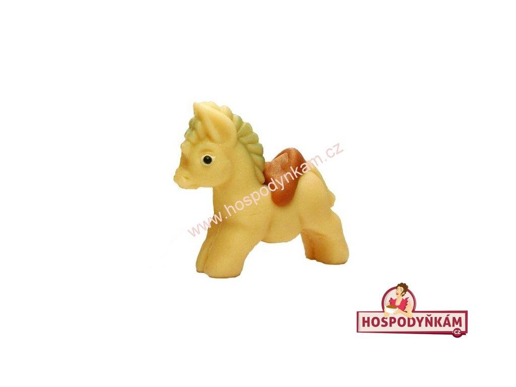 Marcipánová figurka Koník bílý