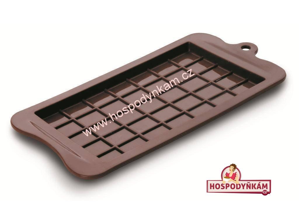 Silikonová forma na čokoládu Ibili - tabulka čokolády