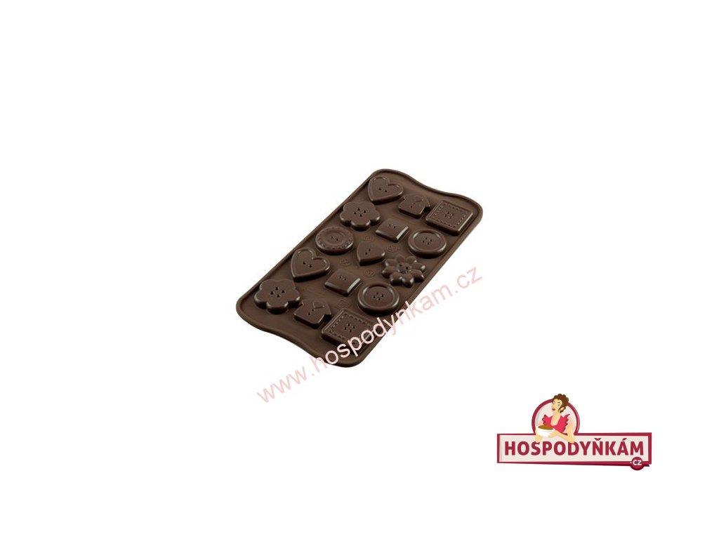 Silikonová forma na čokoládu Buttons
