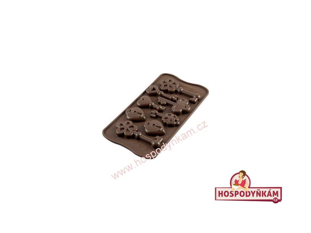 Silikonová forma na čokoládu Keys