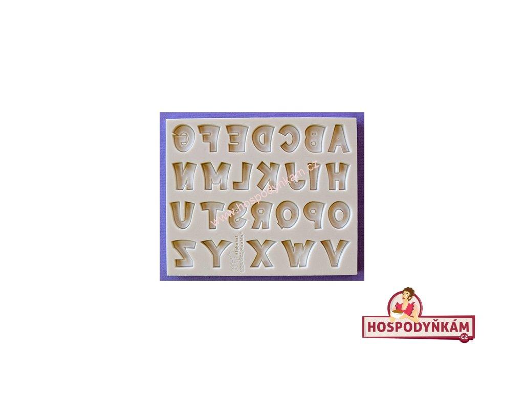 Silikonová forma na marcipán - abeceda Party Font