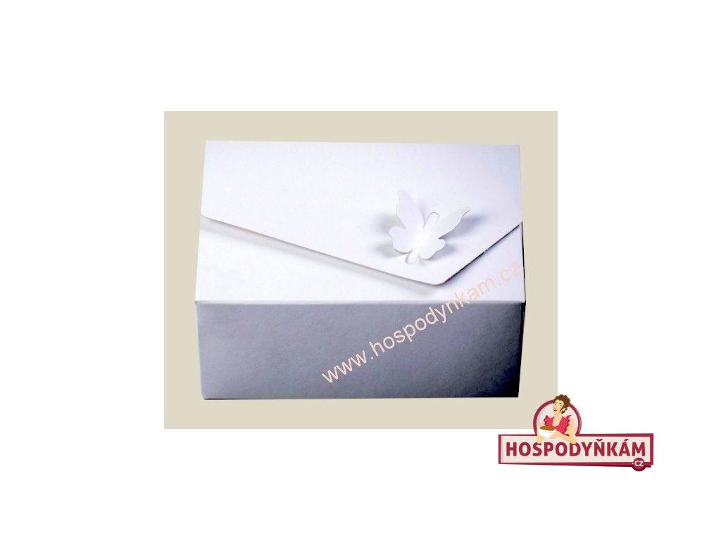 Dortová krabice s motýlkem