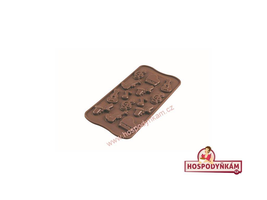 Silikonová forma na čokoládu Melody