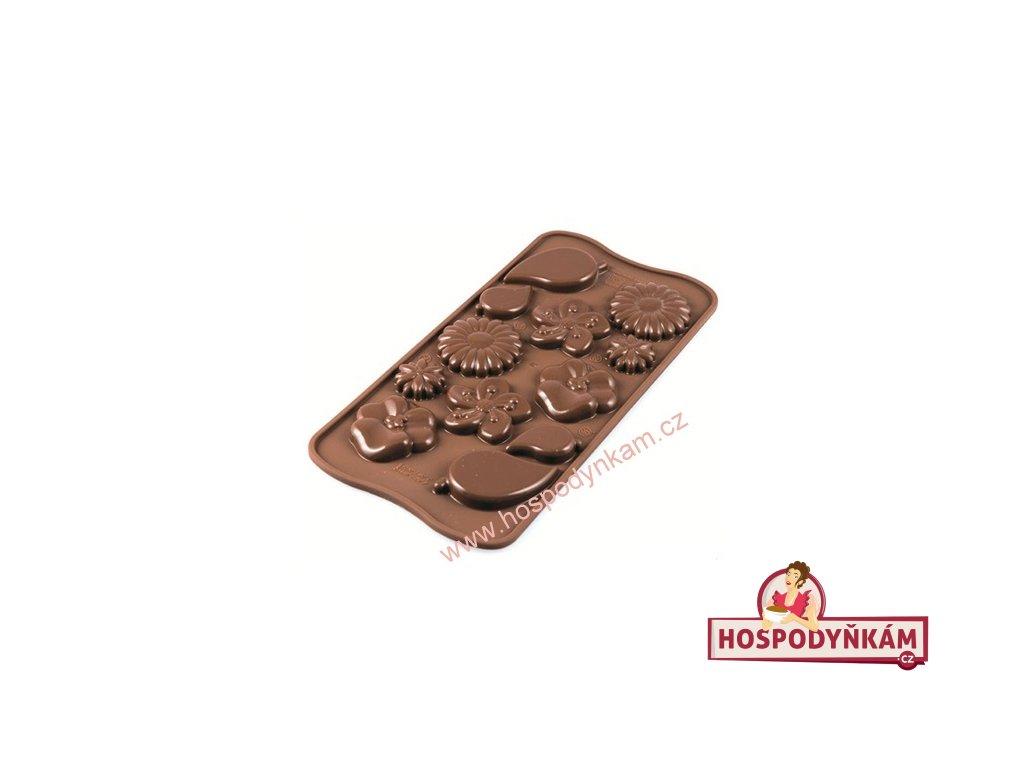 Silikonová forma na čokoládu Garden