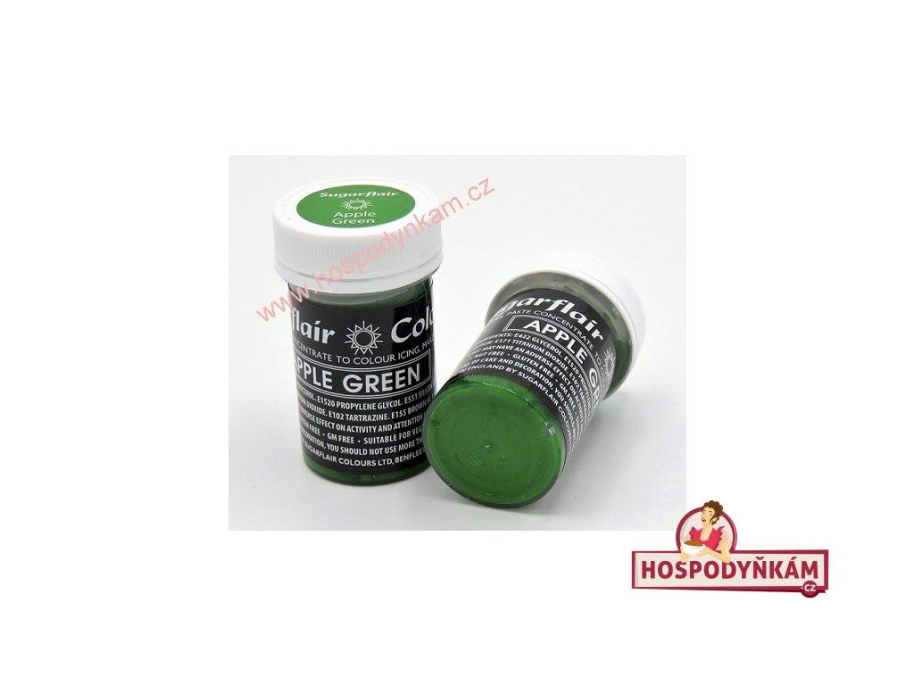 Gelová barva Sugarflair Apple Green