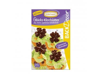Čokoládová dekorace Čtyřlístky 60ks