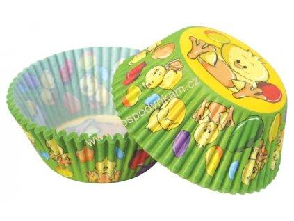 Cukrářské košíčky velikonoční s kuřátkem