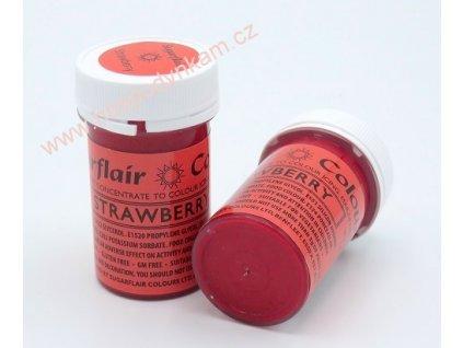 Gelová barva Sugarflair Strawberry