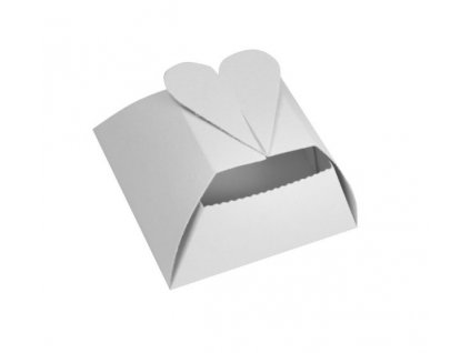 Krabička na svatební koláčky motýl hladký