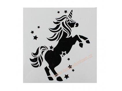 Cake Star Stencil jednorožec