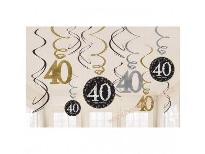 Spirálová dekorace 40. narozeniny
