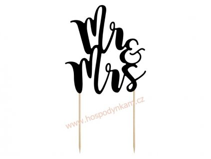 Zapichovací dekorace Mr. a Mrs. černá