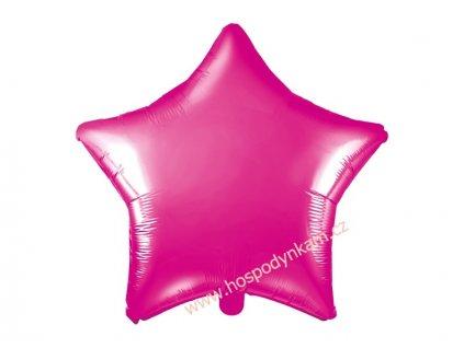 Fóliový balónek hvězda růžová 48cm