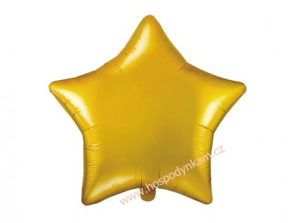 Fóliový balónek hvězda zlatá 48cm