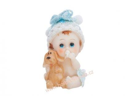 Figurka na dort - chlapeček s pejskem