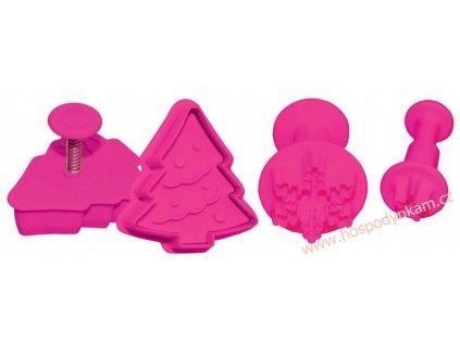 Pístový vypichovač vánoční stromek, vločka, hvězdička