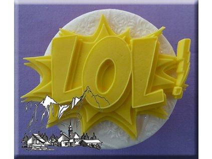 Silikonová forma na marcipán - nápis Lol