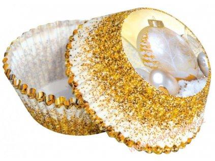 Cukrářské košíčky Vánoční ozdoby zlaté