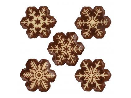 Čokoládová dekorace sněhové vločky 10ks