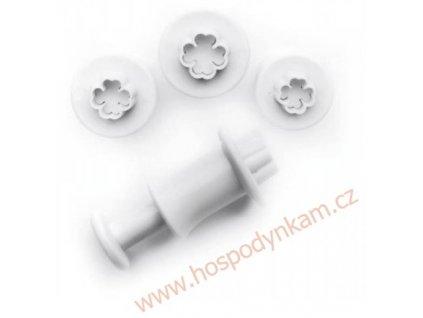 Pístový vypichovač čtyřlístek mini, 3ks