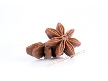 Čokoládová dekorace 3D Badyán 6ks