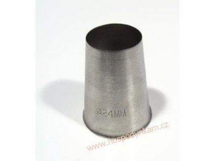 Zdobící špička hladká průměr 24mm