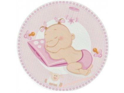 Jedlý papír spící holčička