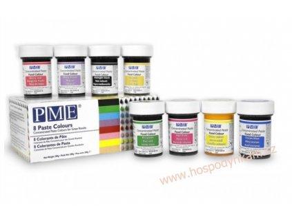 Sada 8 gelových barev PME