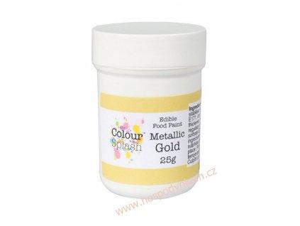 Gelová barva Colour Splash Zlatá metalická