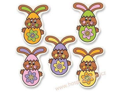 Jedlý obrázek Velikonoční zajíci 5ks