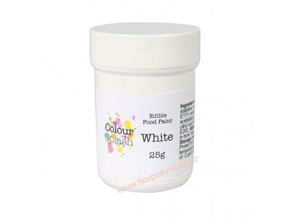 Jedlá barva na malování Colour Splash White