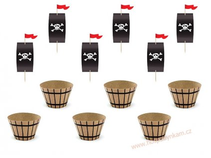 Dekorační sada na muffiny Pirát
