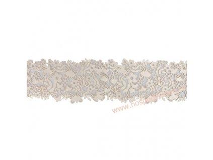 Jedlá dekorace - motýlková krajka 6x38cm