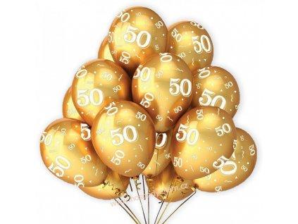 Balónky zlaté k 50. výročí