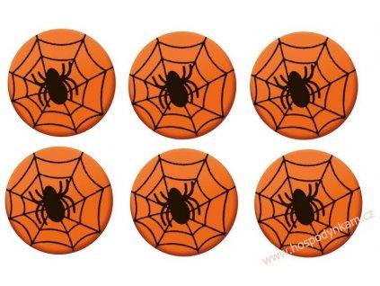 Čokoládová dekorace Pavouk 6ks