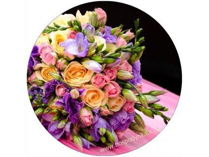 Jedlý papír vázané květy