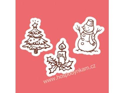 Jedlý papír Vánoční mix mini obrázky 35ks